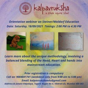 Orientation webinar on steiner/waldrof education